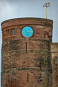 A closer general view of Bamburgh Castle on Wednesday, March 17, 2021. Bamburgh is home to the most important Anglo-Saxon archaeological sites in the world, the Bamburgh Castle. (Photo/ Vudi Xhymshiti)
