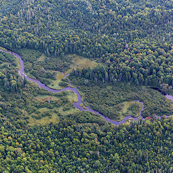 Wytipitlock Stream from the air above Reed Plantation in Reed, Maine.