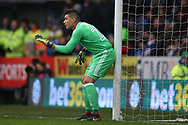 Neil Etheridge, the Cardiff city goalkeeper in action. The Emirates FA Cup, 4th round match, Cardiff city v Manchester City at the Cardiff City Stadium in Cardiff, South Wales on Sunday 28th January 2018.<br /> pic by Andrew Orchard, Andrew Orchard sports photography.