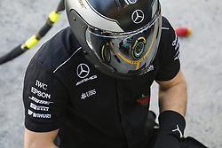 November 10, 2017 - Sao Paulo, Sao Paulo, Brazil - Nov, 2017 - Sao Paulo, Sao Paulo, Brazil - Mechanics of the Mercedes AMG. Free practice this Friday (10), for the Brazilian Grand Prix of Formula One that takes place next Sunday at the Autodromo de Interlagos in São Paulo. (Credit Image: © Marcelo Chello via ZUMA Wire)