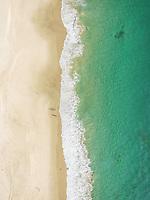Aerial view of Victoria Beach in Lagune Beach, California, USA.