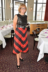 ANNE ROBINSON at a ladies lunch in aid of the charity Maggie's held at Le Cafe Anglais, 8 Porchester Gardens, London on 29th April 2014.