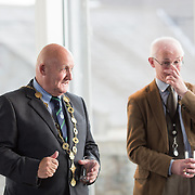 19.06. 2017.                                             <br /> University of Limerick hosts the 5th Global Conference on Transparency Research.<br />  Attending the launch of the event in King Johns Castle were, Mayor of Limerick City and County Cllr. Kieran O'Hanlon and Dr. Matthew Potter, Curator Limerick Museum. Picture: Alan Place