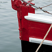 Bow of a fishing boat, Gloucester, MA