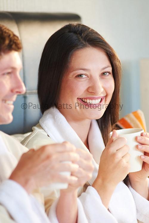 breakfast in bed, model, female, coffee, hotel, hospitality, cozy, bathrobes, morning, san diego, food photographer