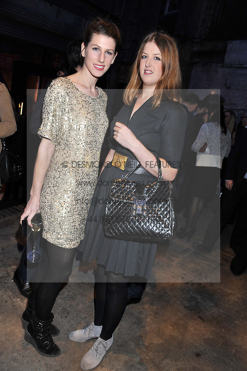 Left to right, SUSANNA WARREN and CATHERINE BECKETT  at a party to celebrate the launch of the new Vertu Constellation phone - the luxury phonemakers first touchscreen handset, held at the Farmiloe Building, St.John Street, Clarkenwell, London on 24th November 2011.