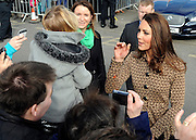 © Licensed to London News Pictures. 21/02/2012, Oxford, UK. Kate Middleton meets 4 year old Lexi and members of the public who have waited in the freezing cold for over two hours outside the school. The Duchess of Cambridge Kate Middleton leaves Rose Hill Primary School in Oxford today 21 February 2012. Photo credit : Stephen Simpson/LNP