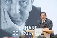"""26 OCT 2006, BERLIN/GERMANY:<br /> Gerhard Schroeder, SPD, Bundeskanzler a.D., waehrend einer Pressekonferenz zur Vorstellung seines Buches """"Entscheidungen. Mein Leben in der Politik"""", Willy-Brandt-Haus<br /> IMAGE: 20061026-01-033<br /> KEYWORDS: Gerhard Schröder, Autobiografie, Biografie, Buch"""
