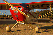Mathew Northway's Interstate Cadet, NC37369, at Creswell Airport. on 9/21/14 at sunset.