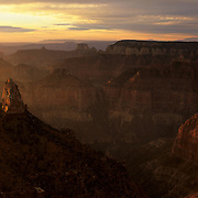 Mt. Hayden from Point Imperial on the North Rim in Grand Canyon National Park, Arizona.