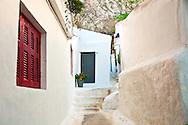 A narrow pedestrian Street in Athens, Greece