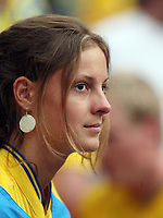 Photo: Chris Ratcliffe.<br /> Sweden v England. FIFA World Cup 2006. 20/06/2006.<br /> Swedish Fans.