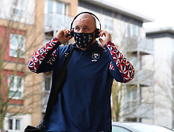 Yann Thomas of Bristol Bears arrives at the game - Mandatory by-line: Matt Impey/JMP - 26/12/2020 - RUGBY - Twickenham Stoop - London, England - Harlequins v Bristol Bears - Gallagher Premiership Rugby