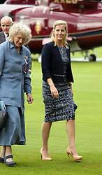 © Licensed to London News Pictures. 25/09/2014. WELLS, UK The Countess of Wessex  visiting Wells Cathedral school and Wells Cathedral today 25th September 2014. Photo credit : Jason Bryant/LNP