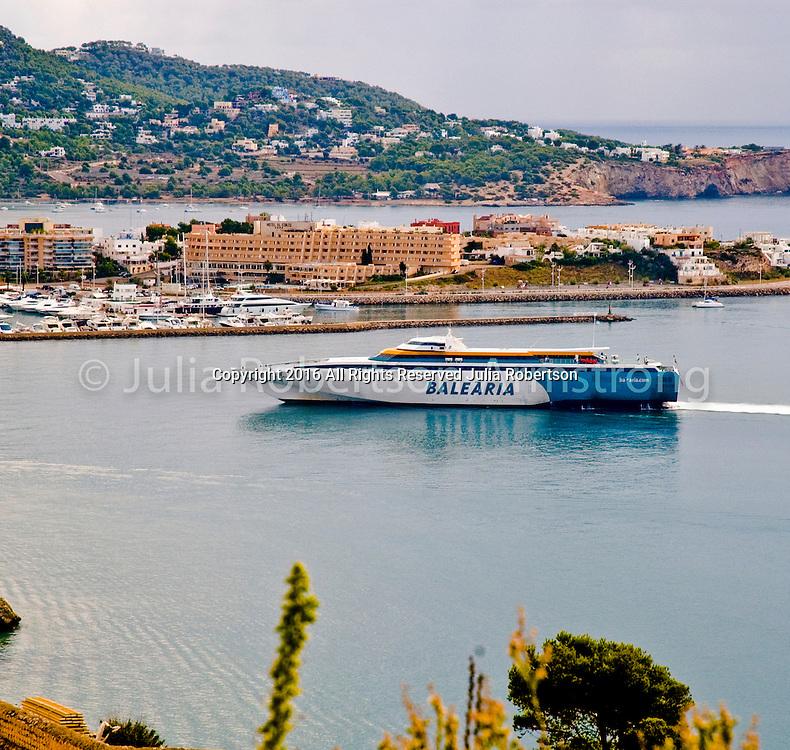 Balearia Ferry coming into Evissa, Ibiza Spain