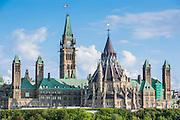 Centre Block on parliament hill,  Ottawa,  Ontario, Canada