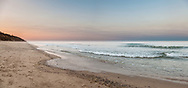 A peaceful summer sunset at Nauset Light Beach in Eastham.