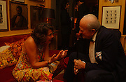 Harriet Crawley and Claus von Bulow, Party given by Taki and Alexandra Theodorakopoulos. Annabels. London. 26 September 2006. -DO NOT ARCHIVE-© Copyright Photograph by Dafydd Jones 66 Stockwell Park Rd. London SW9 0DA Tel 020 7733 0108 www.dafjones.com