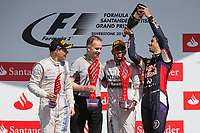 Podium, HAMILTON Lewis (Gbr) Mercedes Gp Mgp W05, BOTTAS Valtteri (Fin) Williams F1 Mercedes Fw36, RICCIARDO Daniel (Aus) Red Bull Renault Rb10 Portrait  during the 2014 Formula One World Championship, Grand Prix of Great Britain from july 3 to 6th 2014, in Silverstone, United Kingdom. Photo Florent Gooden / DPPI