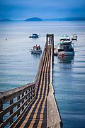 Dock in Olga on Orcas Island, Washington state