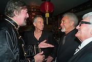 STEPHEN FRY; TONY BLAIR; SIR TOM JONES; DON, Chinese New Year dinner given by Sir David Tang. China Tang. Park Lane. London. 4 February 2013.