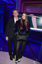 MILES ALDRIDGE and CAITLIN CURRAN at a party to celebrate 25 years of John Frieda held at Claridge's, Brook Street, London on 29th October 2013.