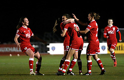 Bristol City Women celebrate Rosella Ayane's second goal - Mandatory by-line: Robbie Stephenson/JMP - Mobile: 07966 386802 - 23/03/2016 - FOOTBALL - Stoke Gifford Stadium - Bristol, England - Bristol City Women v Yeovil Town Ladies - FA Women's Super League 2