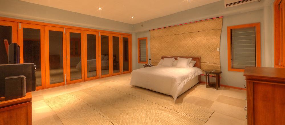Interior Shot of Large Hotel Bedroom, Fiji