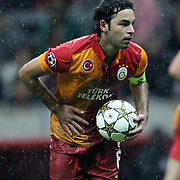 Galatasaray's Selcuk inan during their UEFA Champions League Group H matchday 3 soccer match Galatasaray between CFR Cluj at the TT Arena Ali Sami Yen Spor Kompleksi in Istanbul, Turkey on Tuesday 23 October 2012. Photo by Aykut AKICI/TURKPIX