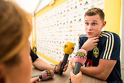 July 4, 2018 - Gelendzhik, Russia - 180704 Emil Krafth of the Swedish national football team in the mixed zone during the FIFA World Cup on July 4, 2018 in Gelendzhik..Photo: Petter Arvidson / BILDBYRN / kod PA / 92081 (Credit Image: © Petter Arvidson/Bildbyran via ZUMA Press)
