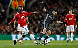 Manchester United's Paul Pogba (left) and CSKA Moscow's Alan Dzagoev battle for the ball during the UEFA Champions League match at Old Trafford, Manchester.