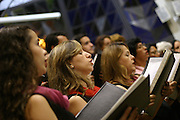 Belo Horizonte_MG, Brasil...Encontro de corais na Igreja da Assembleia, na foto o regente maestro Marco Antonio Drumond...Meeting of choral in the Assembleia church, in this photo the conductor Marco Antonio Drumond...Foto: LEO DRUMOND / NITRO