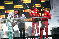 June 9, 2019 - Montreal, Canada - xa9; Photo4 / LaPresse.09/06/2019 Montreal, Canada.Sport .Grand Prix Formula One Canada 2019.In the pic podium:.1st position Lewis Hamilton (GBR) Mercedes AMG F1 W10 .2nd position Sebastian Vettel (GER) Scuderia Ferrari SF90 .3rd position Charles Leclerc (MON) Scuderia Ferrari SF90 (Credit Image: © Photo4/Lapresse via ZUMA Press)