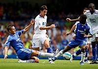 Photo: Richard Lane/Sportsbeat Images. <br />Chelsea v Birmingham. Barclay's Premiership. 12/08/2007. <br />Birmingham's Liam Ridgewell is challenged by Chelsea's Frank Lampard (lt) and Shaun Wright-Phillips.