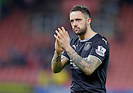 Two-goal Danny Ings of Burnley celebrates at the end of the game Football - Barclays Premier League - Stoke City vs Burnley - Britannia Stadium Stoke - Season 2014/2015 - 22nd November 2015 - Photo Malcolm Couzens /Sportimage