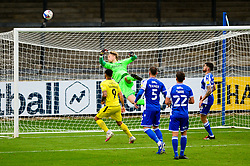 Anssi Jaakkola of Bristol Rovers tips the ball over the bar - Mandatory by-line: Dougie Allward/JMP - 17/10/2020 - FOOTBALL - Memorial Stadium - Bristol, England - Bristol Rovers v Burton Albion - Sky Bet League One