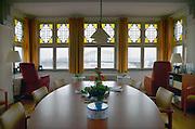Nederland, Nijmegen, 19-2-2013Uitzicht met lege stoelen in een hospice, sterfhuis voor terminale patienten.Foto: Flip Franssen