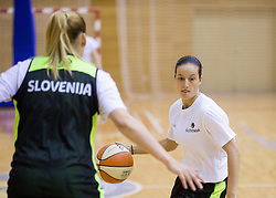 Nika Baric during practice session of Slovenian Women Basketball Team, on May 14, 2014 in Arena Vitranc, Kranjska Gora, Slovenia. Photo by Vid Ponikvar / Sportida