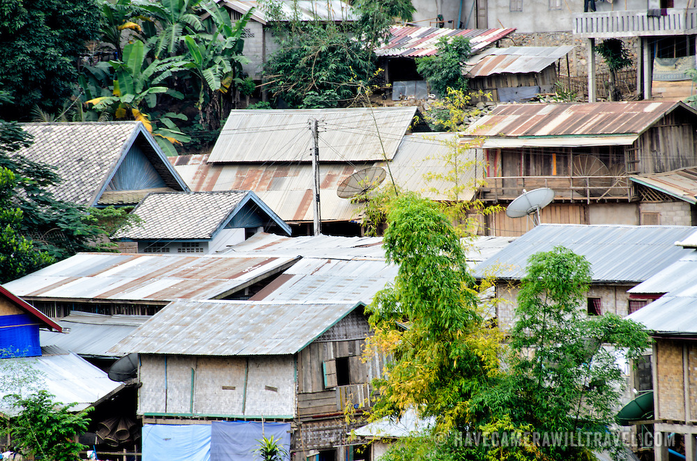 Houses in Nong Khiaw in northern Laos.