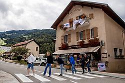 10-09-2017 FRA: BvdGF Tour du Mont Blanc day 1, Beaufort <br /> Vandaag vertrekken we vanuit Papendal in Arnhem naar naar het plaatsje Beaufort (nabij Chamonix) in Frankrijk / Thijs, Peter, Jan, Harold, Tjebbe