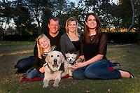 13 November 2011:  Andrew, Carolyn, Katie and Lucy Gregg family at the park.  Personal Use Only.