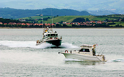 Police launch in Santander Bay, Spain<br /> <br /> (c) Andrew Wilson | Edinburgh Elite media