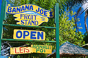 Banana Joe's Fruit Stand, North Shore, Island of Kauai, Hawaii