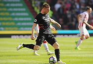 Liverpool's James Milner in action. Premier league match, Stoke City v Liverpool at the Bet365 Stadium in Stoke on Trent, Staffs on Saturday 8th April 2017.<br /> pic by Bradley Collyer, Andrew Orchard sports photography.