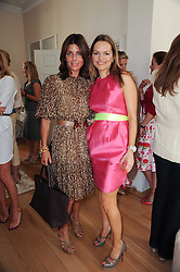 Left to right, JULIE PHILLIPS and MARIA HATZISTEFANIS at a party hosted by Maria Hatzistefanis to celebrate the publication of Santa Montefiore's new book 'The Affair' held at 35 Walpole Road, London on 27th April 2010.