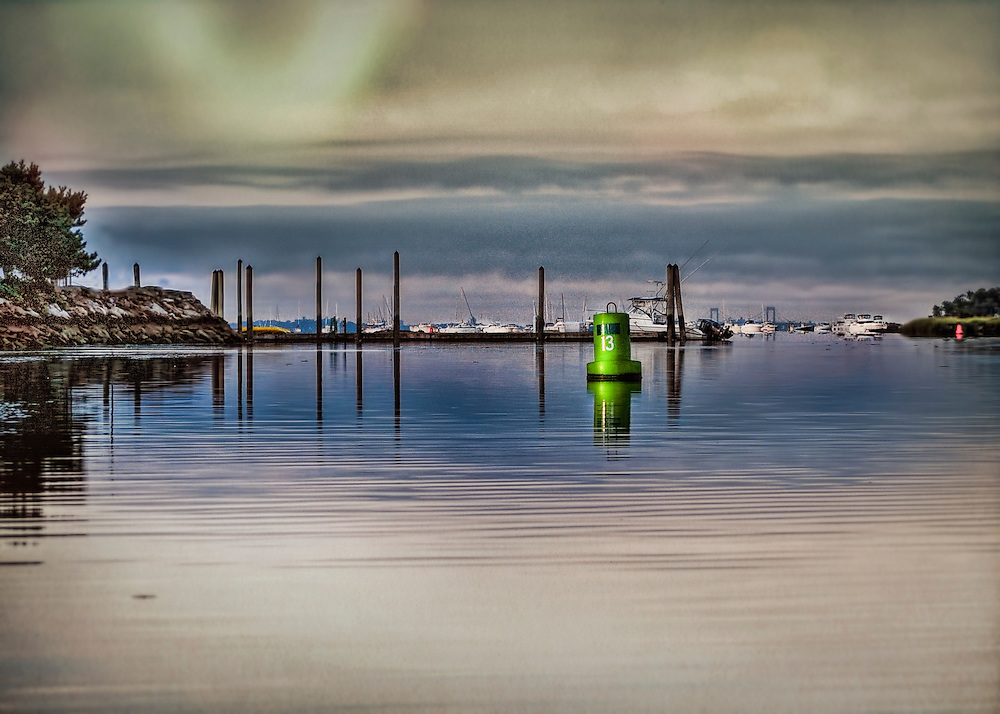 """Marina at dusk in the spring. Size suitable for framing or canvas prints up to 13 x 16"""" or any website."""