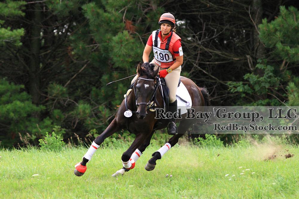 Edie Tarves and Arwen at Grandview Horse Trials held August 1 - 2, 2009 in Hawkestone, Ontario.