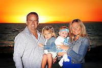29 November 2015: Extended Hope family in Laguna Beach, California.