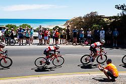 January 20, 2019 - Adelaide, South Australia, Australia - Richie Porte, (Centre), Team Trek Segafredo, Stage 6 of the Tour Down Under, Australia on the 20 of January 2019  (Credit Image: © Gary Francis/ZUMA Wire)