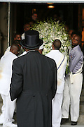 Dr.Barbar Ann Teer casket leaves at the Celebration of the Life and Legacy of Dr. Barabara Ann Teer at the Memorial Service held at The Riverside Drive in Harlem, NY on Monday, July 28, 2008